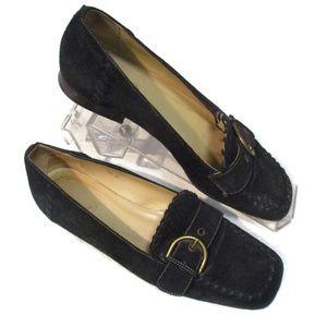 Coach Adeline G3 Black Suede Shoes 8.5 B